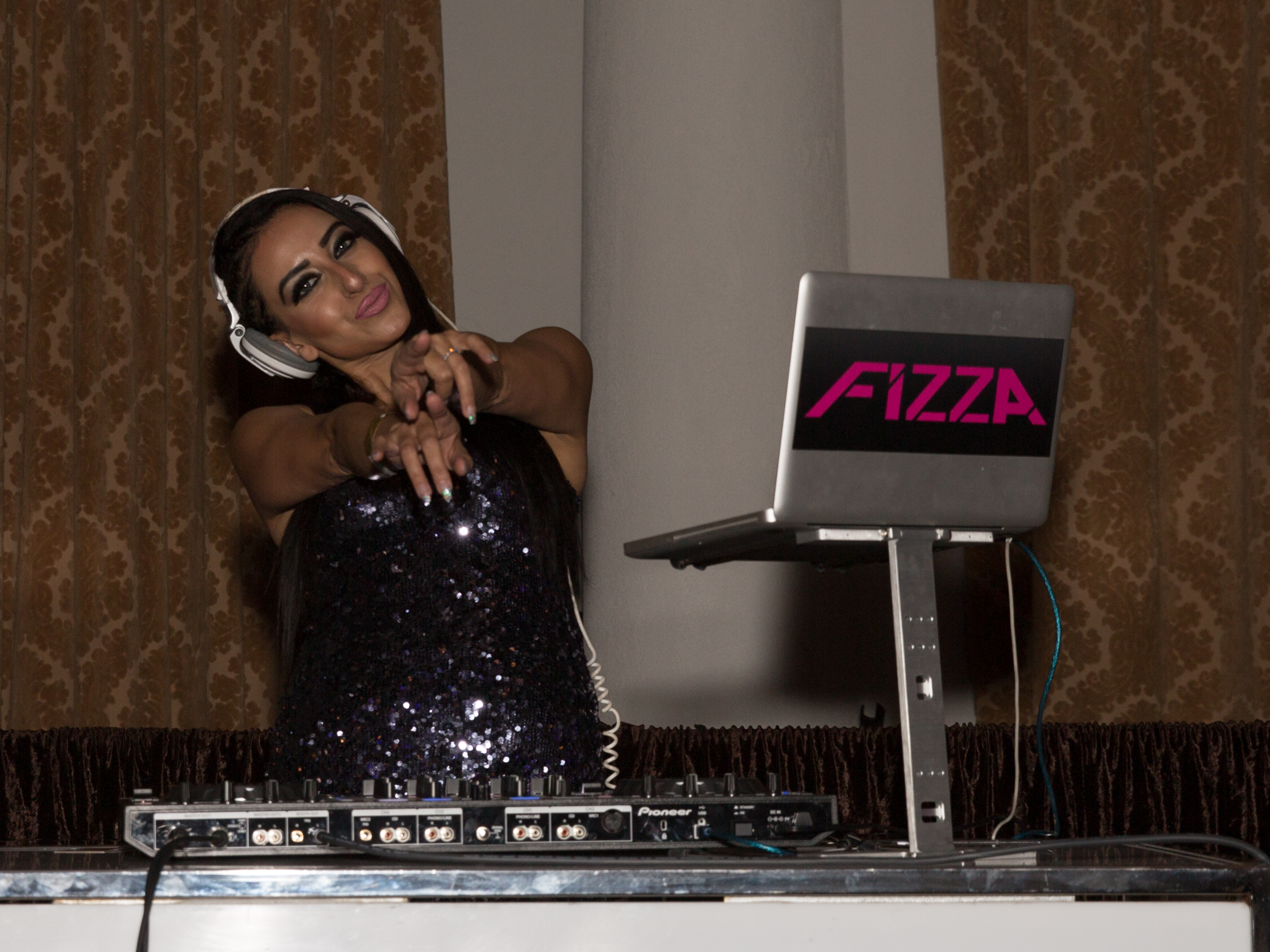 DJ Fizza Spinning During Media Reception