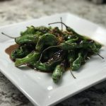 Shishito Peppers in Asian Garlic Sauce