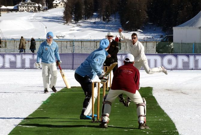 India Pakistan Battle With Bats On The Swiss Alps!