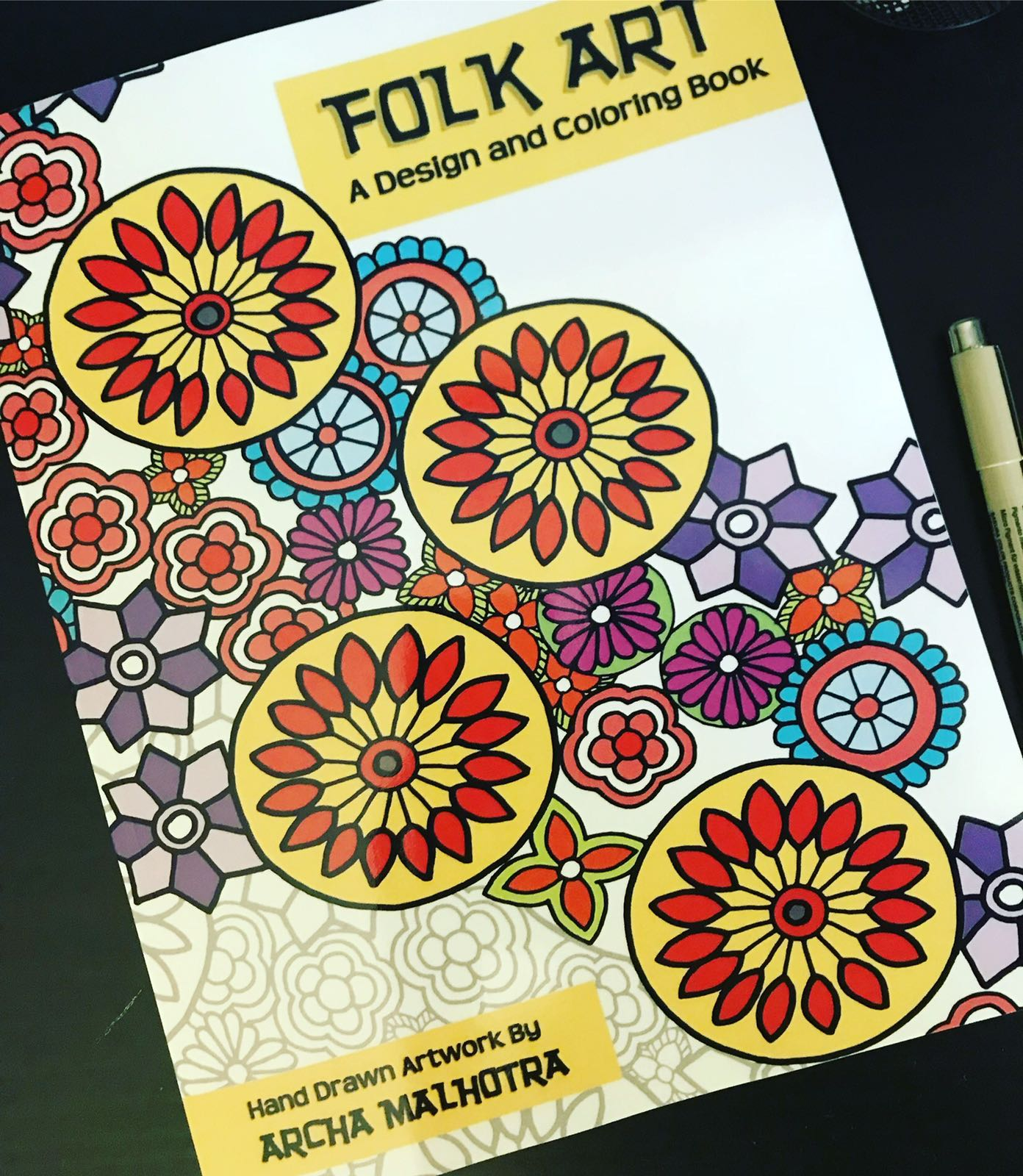 Indian Folk Art Coloring Book