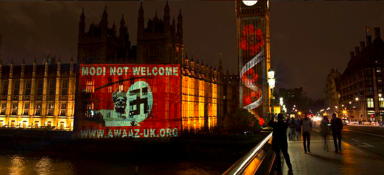 The Brits Ain't Having It PM Modi – Protestors In London Are Calling Him Out #ModiNotWelcome