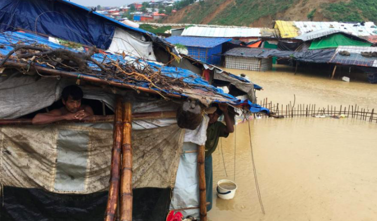Floods, Landslides, And Death Swamping Bangladesh's Rohingya Refugee Camp