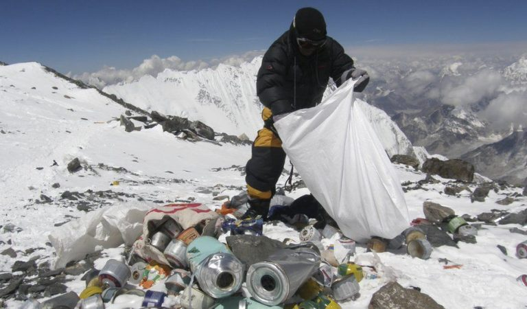 Tons Of Garbage On Mt. Everest Creates The World's Highest Dumpsite
