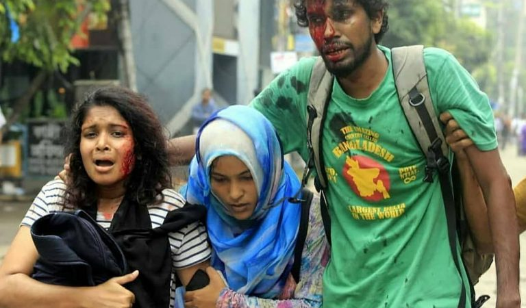 Bangladeshi Students Protesting For Better Roads Brutalized By Government Forces