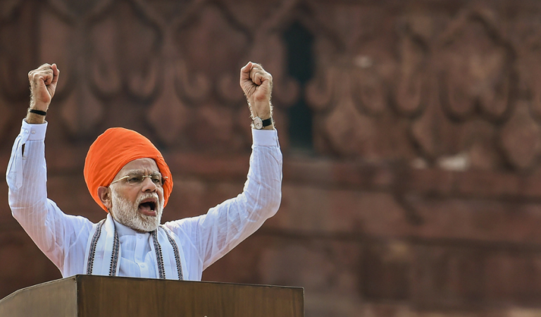 Indian Prime Minister Gives MODIcare As Independence Day Gift