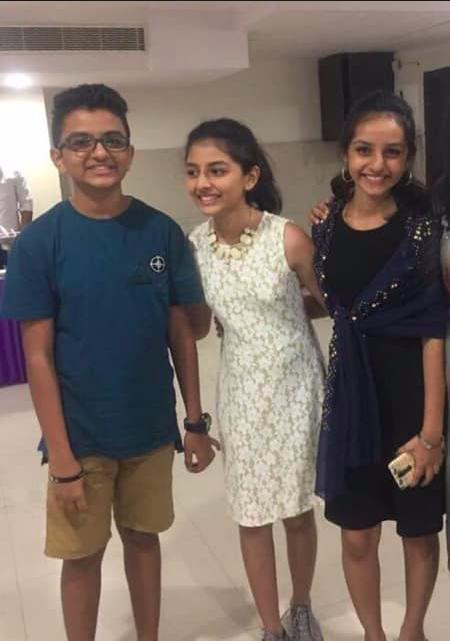 Aaron Naik, 17, Sharron Naik, 14 and Joy Naik, 15