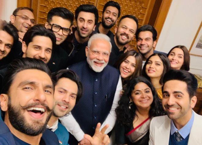 Modi with Bollywood Selfie