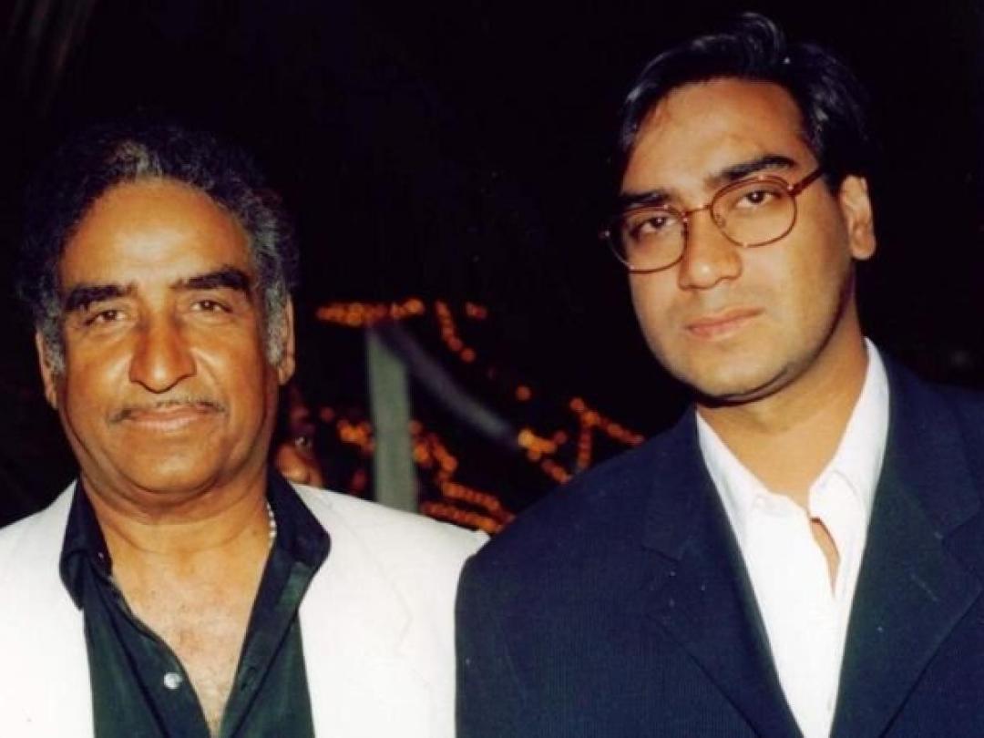 Veeru Devgan with Ajay Devgan