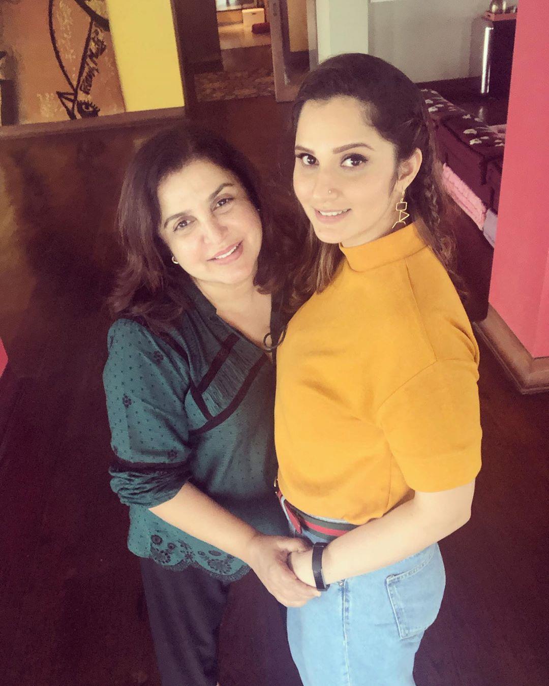 Farah Khan and Sania Mirza