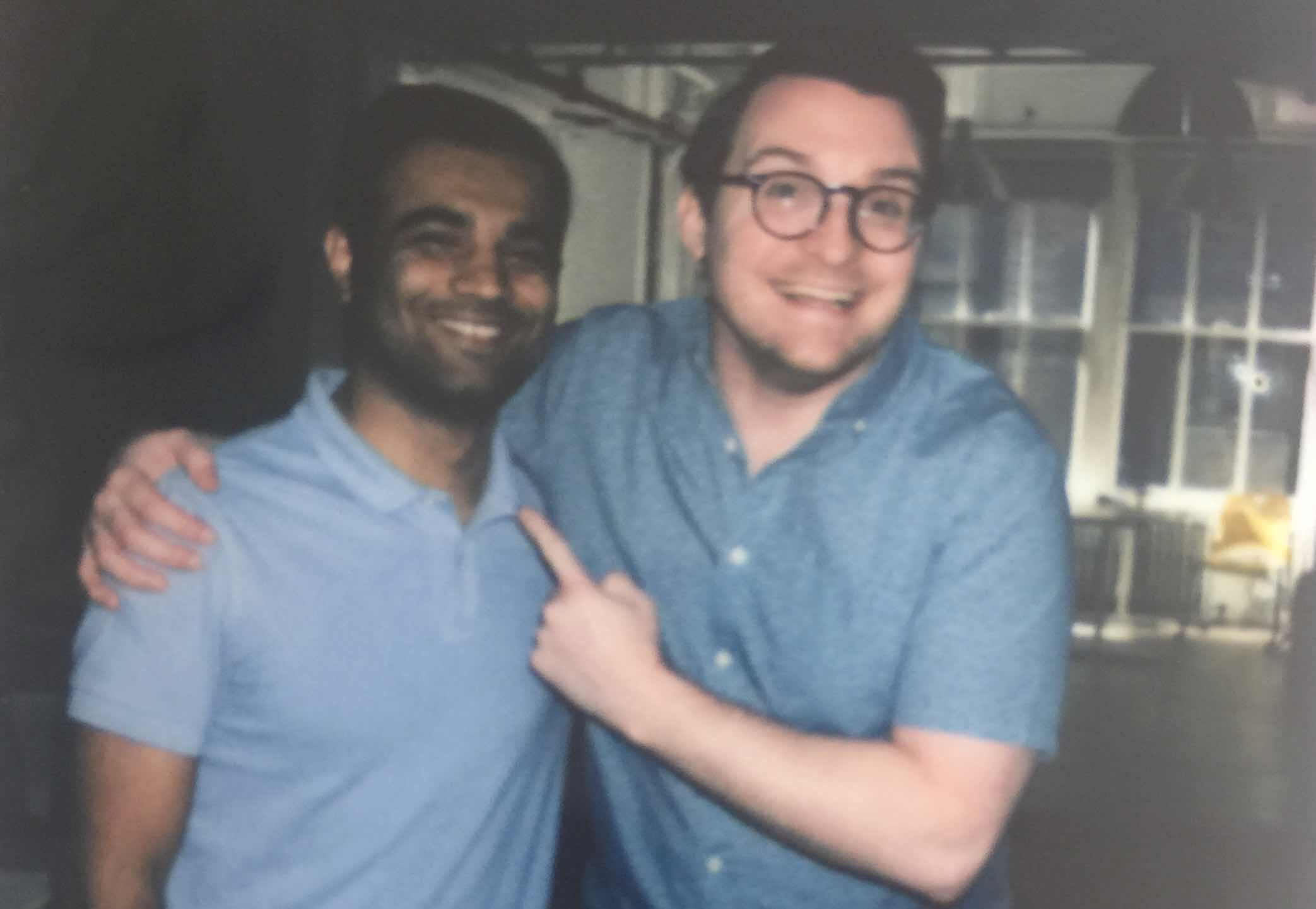 Punit sharing a light moment with Dan Arrigo, Senior Product Manager - MGM Studios before Comic Con