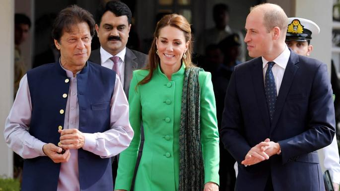 Pakistan Prime Minister, Imran Khan, with Duke and Duchess of Cambridge