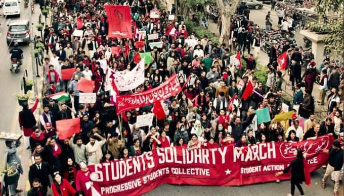 the students solidarity march, pakistan