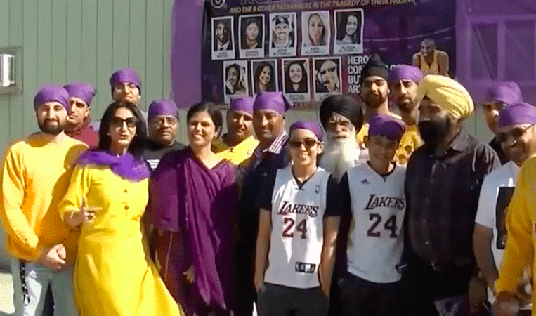 Bakersfield's Sikh Community's Memorial For Kobe Bryant Was All Heart