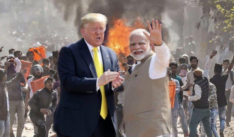 "Delhi Burned While Modi Busy Saying ""Namaste Trump"""